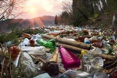 Flaschen im Reservoirberg Lizenzfreies Stockbild