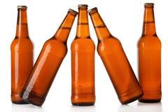 Flaschen kaltes Bier Stockbild