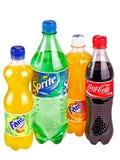 Flaschen mit Getränken Lizenzfreie Stockfotografie