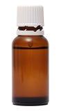 Flaschen mit nasalen Tropfen des Sprays lokalisiert auf Weiß Stockbilder