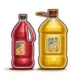 Flaschen mit reinem Palmöl vektor abbildung