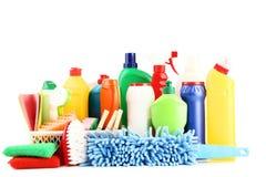 Flaschen mit Reinigungsmittel lizenzfreie stockfotos