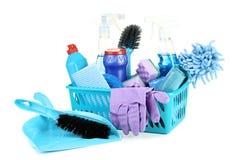 Flaschen mit Reinigungsmittel stockbild