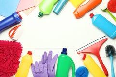 Flaschen mit Reinigungsmittel stockfotografie
