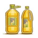 Flaschen mit Reis-Kleie-Öl stock abbildung