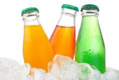 Flaschen mit Soda stockfotografie