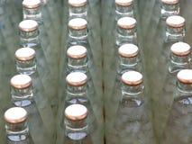 Flaschen von Nata de coco im Sirup, ausgewählter Fokus Lizenzfreies Stockfoto