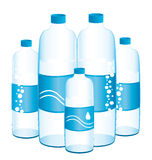 Flaschen Wasser. Stockbild