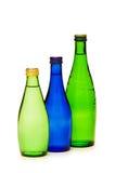 Flaschen Wasser getrennt Lizenzfreie Stockfotos