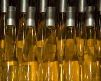 Flaschen weißer Wein lizenzfreie stockfotos