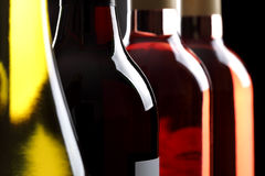 Flaschen Wein Stockfotografie