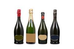 Flaschen Wein mit unbelegtem Kennsatz Lizenzfreie Stockfotografie