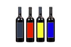 Flaschen Wein mit unbelegtem Kennsatz Lizenzfreies Stockfoto