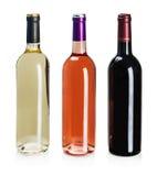 Flaschen Wein von verschiedenen Arten Stockfoto