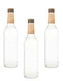 Flaschen Wodka lokalisiert lizenzfreie stockbilder