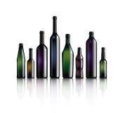 Flaschenansammlung lizenzfreie abbildung