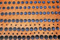 Flaschengrünerdwall als Hintergrund Stockbild