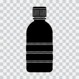 Flaschenikone, schwarzes Schattenbild auf transparentem Hintergrund Vektor lizenzfreie abbildung