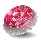 Flaschenkapsel mit Rotweinfestival Lizenzfreie Stockfotos