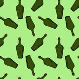 Flaschenmuster Hand gezeichnete Abbildung Helle Karikaturillustration für Kartendesign, -gewebe und -tapete lizenzfreie abbildung