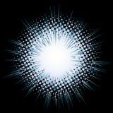 Flash. Halftone flash (vector design element Stock Photo