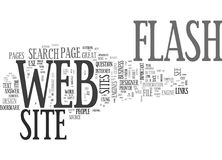 Is Flash Appropriate In A Business Web Site Text Background  Word Cloud Concept Stock Images
