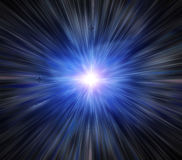 Flash on a blue Royalty Free Stock Photo