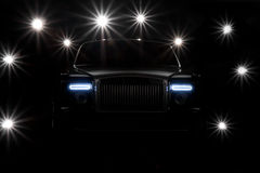 Flash Bulbs Around Expensive Car Royalty Free Stock Images