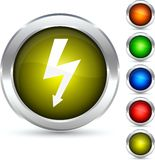 Flash button. Flash detailed button. Vector illustration Royalty Free Stock Photos