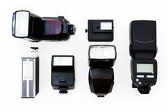 Flash camera equipment isolated background Royalty Free Stock Image