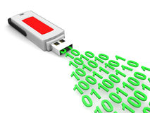 Flash Card Information. 3D image of Flash Card Information Royalty Free Stock Image