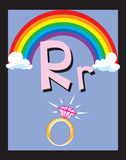 Flash Card Letter R nouns Stock Photo