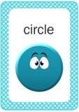 Flash card stampabile di forma del bambino, cerchio Immagini Stock Libere da Diritti