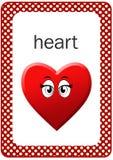 Flash card stampabile di forma del bambino, cuore Immagini Stock Libere da Diritti