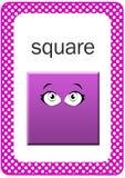 Flash card stampabile di forma del bambino, quadrato Fotografie Stock