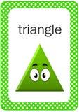 Flash card stampabile di forma del bambino, triangolo Immagini Stock