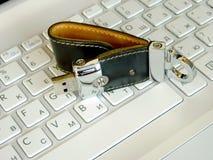 Flash card sulla tastiera Fotografia Stock Libera da Diritti