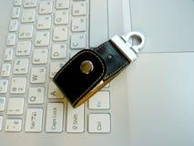 Flash card sulla tastiera Fotografie Stock Libere da Diritti
