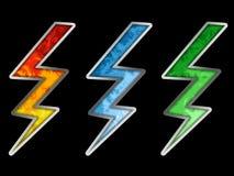 Flash colorido Imagens de Stock