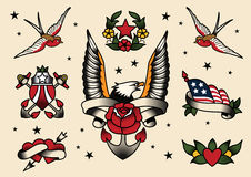 Flash da tatuagem Imagens de Stock Royalty Free