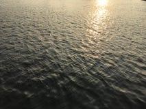 Flash de la puesta del sol del puerto de Vitoria fotos de archivo
