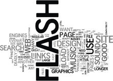 Flash Deadly Sins That Can Kill Your Web Business Word Cloud Concept. Flash Deadly Sins That Can Kill Your Web Business Text Background Word Cloud Concept Stock Photo