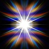 Flash del Rainbow di indicatore luminoso Immagini Stock Libere da Diritti