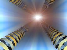 Flash del túnel Fotografía de archivo libre de regalías