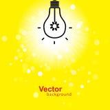 Flash del vector de la luz Foto de archivo libre de regalías