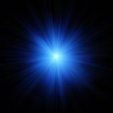 Flash della stella blu Immagini Stock