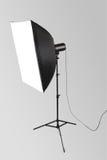 Flash dello studio con softbox fotografia stock libera da diritti