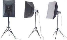 Flash do estúdio Fotografia de Stock Royalty Free