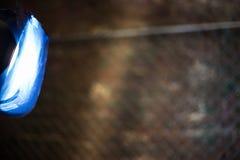 Flash do estúdio com filtro azul fotografia de stock royalty free
