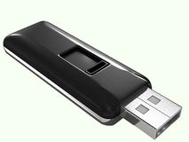 Flash drive. Computer generated in Cinema 4D Stock Image
